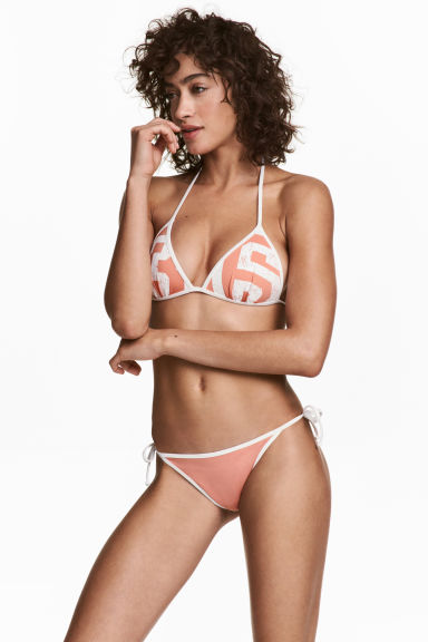 Bikini bottoms - Apricot/White - Ladies | H&M