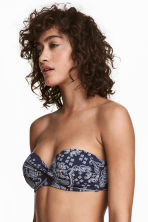 Balconette bikini top - Dark blue/Paisley - Ladies | H&M 1