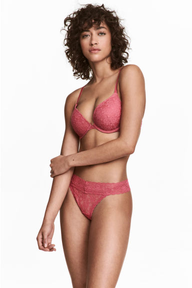 3-pack thong briefs - Raspberry pink - Ladies | H&M
