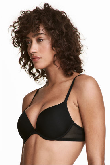 2-pack push-up bras - Black/Sand - Ladies | H&M 1