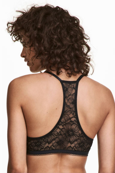 Super push-up lace-back bra - Black - Ladies | H&M IE 1