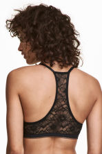 Super push-up lace-back bra - Black - Ladies | H&M 1