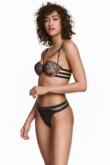 Lace Thong Briefs - Black - Ladies | H&M CA 1