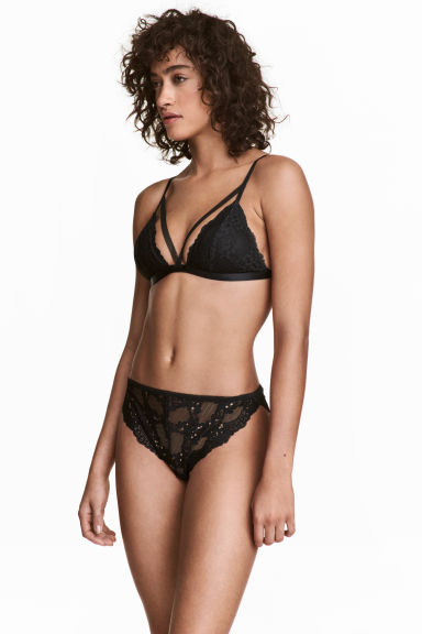 Lace bikini briefs - Black - Ladies | H&M CA 1