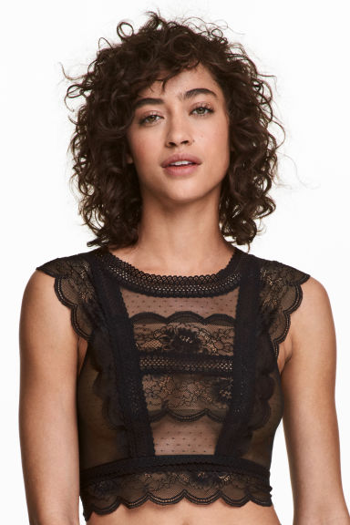 Lace bralette - Black - Ladies | H&M