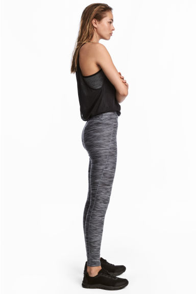 Sports tights - Grey marl - Ladies | H&M
