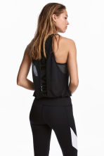 Sports vest top - Black - Ladies | H&M 1
