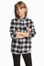 Flannel shirt - Grey/Checked - Kids | H&M 1