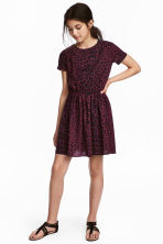 Short-sleeved dress - Burgundy/Leopard print - Kids | H&M 1