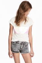 Top with sequins - White - Kids | H&M 1