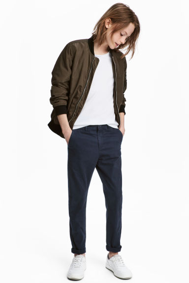 Slim Fit Chino - Koyu mavi - Kids | H&M TR 1