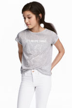 Printed jersey top - Light grey - Kids | H&M CN 1
