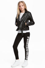 Jersey leggings - Black -  | H&M 1