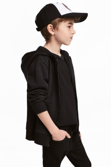 Hooded jacket - Black - Kids | H&M 1