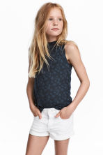 Sleeveless Lace Top - Dark grey - Kids | H&M CA 1