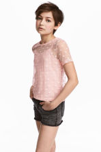 Mesh top with a cami top - Light pink/Heart - Kids | H&M 1