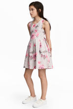 Sleeveless Jersey Dress - Grey marl/Floral -  | H&M CA 1