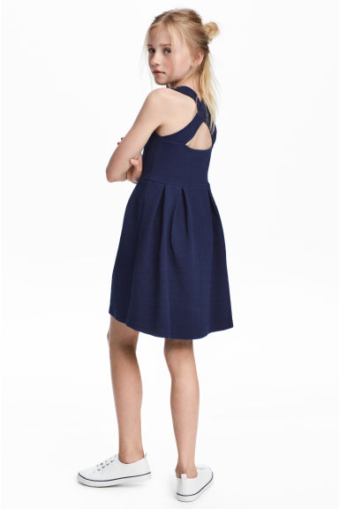 Sleeveless jersey dress - Dark blue - Kids | H&M 1