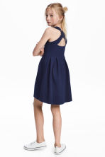 Sleeveless jersey dress - Dark blue -  | H&M CN 1
