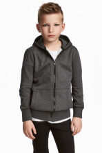 Hooded jacket - Dark grey marl -  | H&M 1