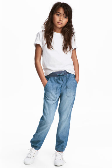 Pull-on trousers - Blue/Chambray - Kids | H&M