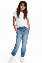 Pull-on trousers - Blue/Chambray - Kids | H&M 1