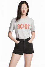 Printed T-shirt - Grey AC/DC - Ladies | H&M CN 1