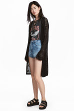 Fine-knit cardigan - Black - Ladies | H&M 1