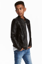 Biker jacket - Black - Kids | H&M 1