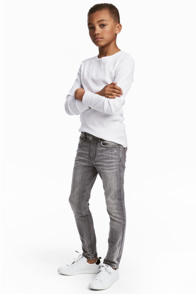 Superstretch Skinny Fit Jeans - Grey washed out - Kids | H&M