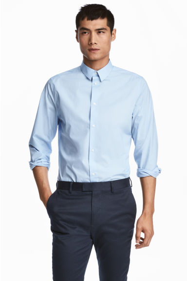 優質棉襯衫 - Light blue - Men | H&M 1
