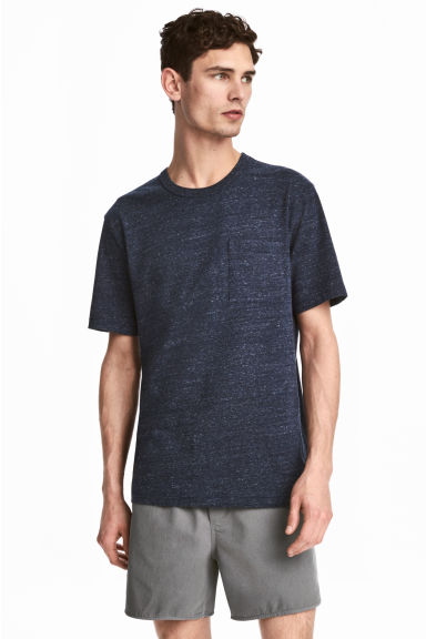 Marled T-shirt - Dark blue - Men | H&M CN 1