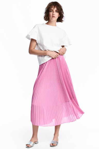 Pleated skirt - Pink - Ladies | H&M