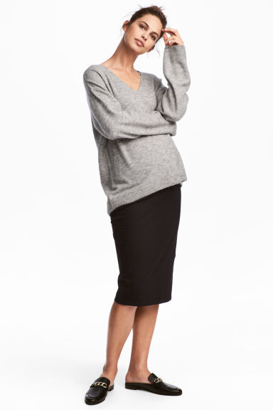 MAMA Jersey pencil skirt - Black - Ladies | H&M 1