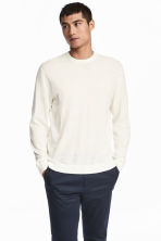 Jumper in a linen blend - White - Men | H&M CN 1