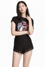 Lace shorts - Black - Ladies | H&M 1