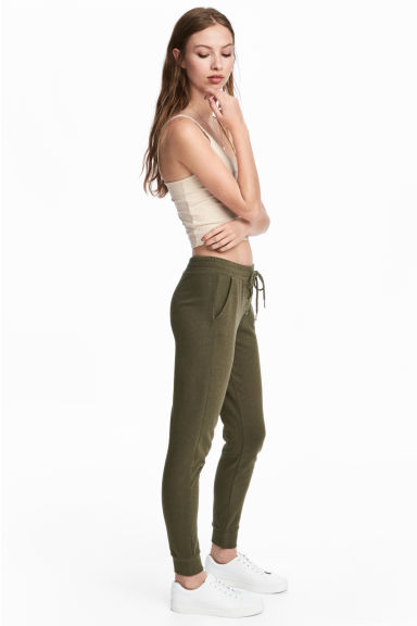 慢跑褲 - Dark Khaki - Ladies | H&M
