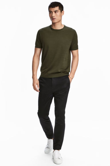 Premium cotton chinos - Black - Men | H&M 1