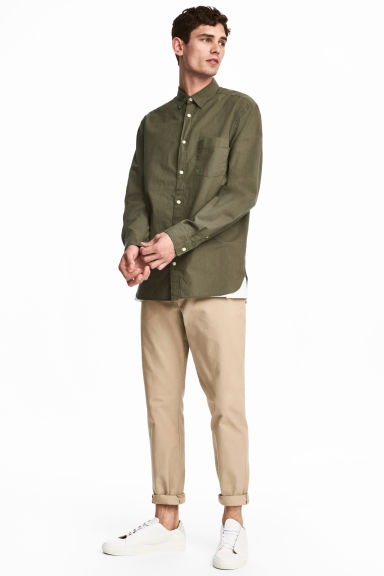 Cotton chinos - Beige - Men | H&M CN 1