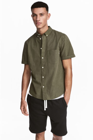 Camicia Regular fit - Kaki - UOMO | H&M IT 1