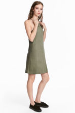 Short jersey dress - Khaki green - Ladies | H&M GB 1