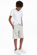Sweatshirt shorts - Light grey marl - Kids | H&M CN 1