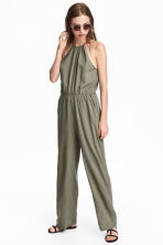 無袖連身褲裝 - Khaki green - Ladies | H&M 1
