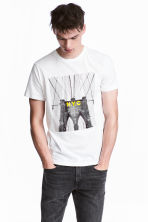 T-shirt with Printed Design - White - Men | H&M CA 1