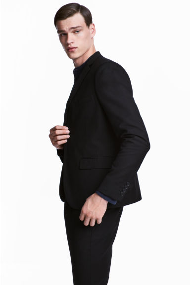 Jacket Slim fit - Black - Men | H&M CA 1