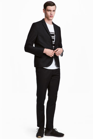 Pantaloni da completo Slim fit - Nero - UOMO | H&M IT 1