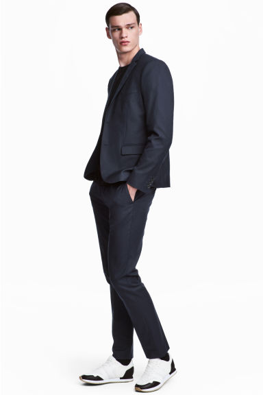 Suit trousers Slim fit - 深蓝色 - Men | H&M CN 1
