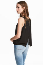 Crinkled top - Black - Ladies | H&M CN 1