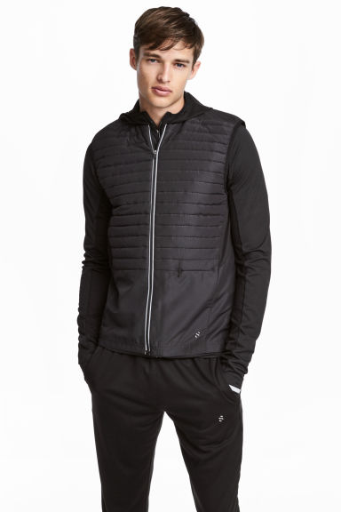 Padded running gilet - Black -  | H&M CN
