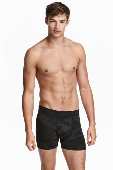 Sports boxer shorts - Black/Patterned - Men | H&M CA 1
